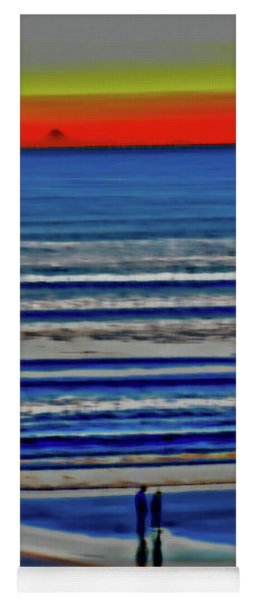 Beach Walking At Sunrise Yoga Mat