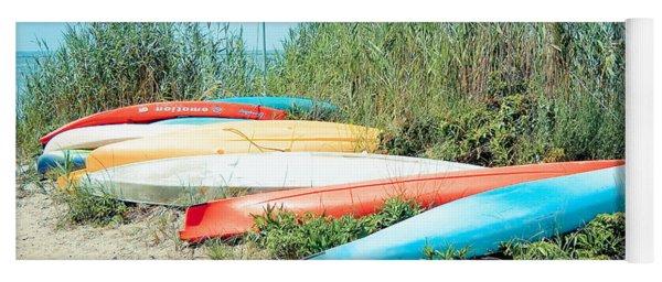 Beached Kayaks Yoga Mat