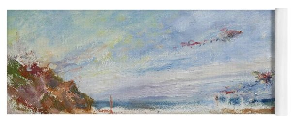 Beachy Day - Impressionist Painting - Original Contemporary Yoga Mat
