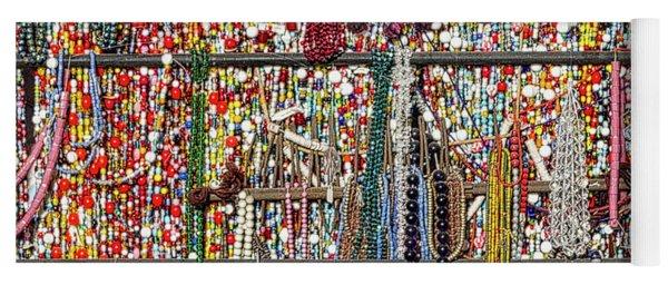 Beads In A Window Yoga Mat