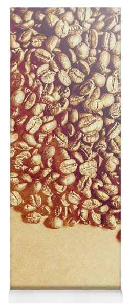 Bean Background With Coffee Space Yoga Mat