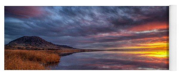 Bear Butte Lake Sunrise Yoga Mat