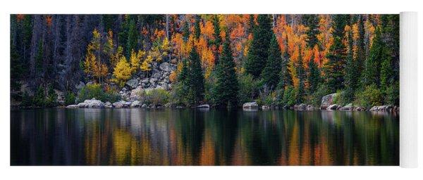 Bear Lake Autumn Reflections Yoga Mat