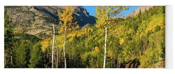Bear Lake Road In Fall Yoga Mat