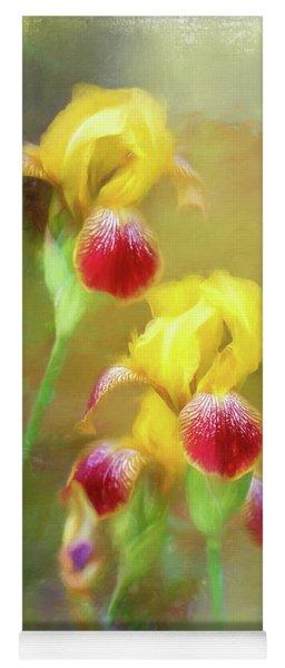 Bearded Iris Pair Yoga Mat