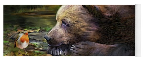 Yoga Mat featuring the mixed media Bear's Eye View by Carol Cavalaris