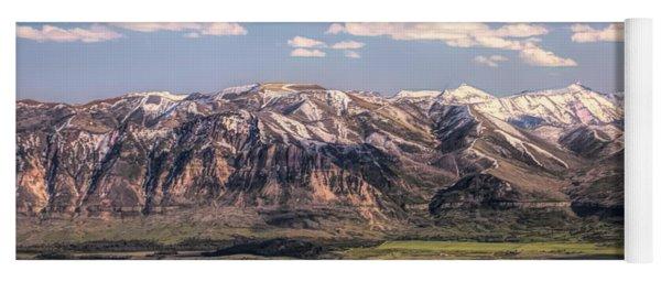 Beartooth Mountain Range Panorama Yoga Mat