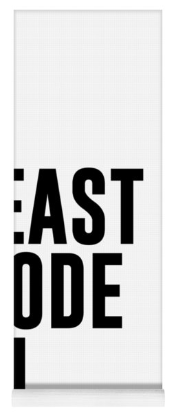Beast Mode On - Gym Quotes 1 - Minimalist Print - Typography - Quote Poster Yoga Mat