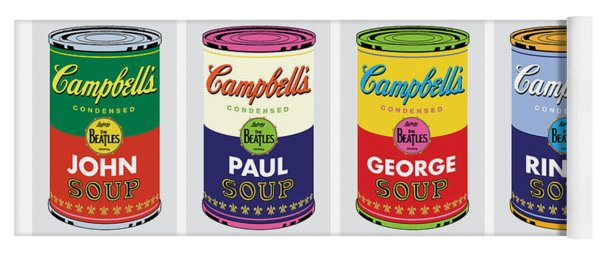 Beatle Soup Cans Yoga Mat