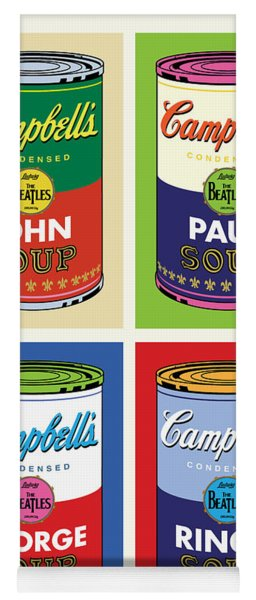 Beatles Soup Yoga Mat