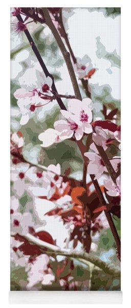 Beautiful Almond Blossoms Yoga Mat