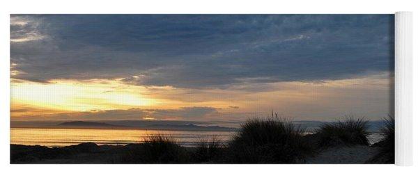 Beautiful Beach San Dunes Sunset And Clouds Yoga Mat