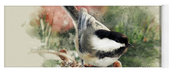 Beautiful Chickadee - Watercolor Art Yoga Mat