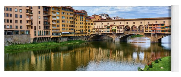 Ponte Vecchio On A Spring Day In Florence, Italy Yoga Mat