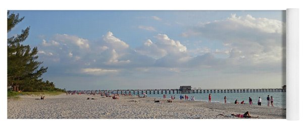 Beautiful Day On Naples Beach Naples Florida Yoga Mat