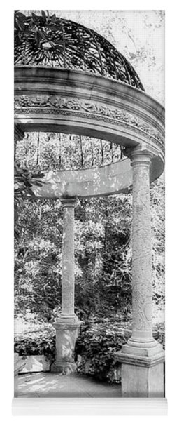Beautiful Gazebo In Black And White Yoga Mat