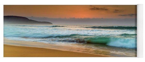 Beautiful Hazy Sunrise Seascape  Yoga Mat