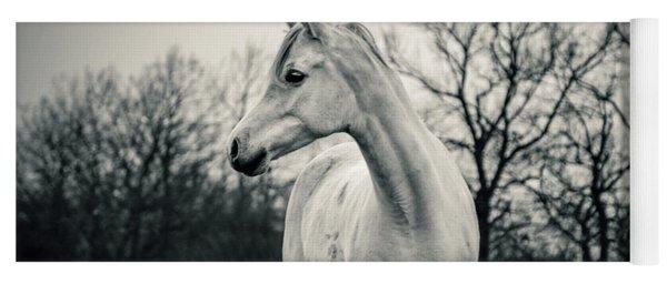 Beautiful Lonely White Horse IIi Yoga Mat