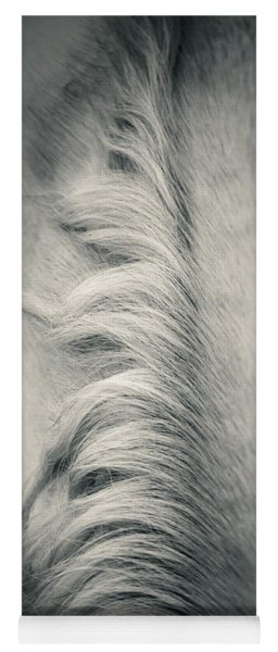 Beautiful Lonely White Horse Iv Yoga Mat