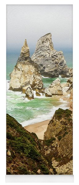 Beautiful Praia Da Ursa In Portugal Yoga Mat