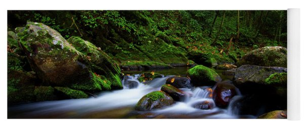 Beautiful Stream In Tremont Smoky Mountains Tennessee Yoga Mat