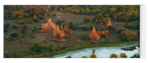 Beautiful Sunrise In Bagan Yoga Mat