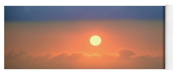 Beautiful Sunset With Low Clouds Yoga Mat