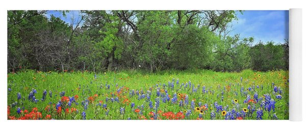 Beautiful Texas Spring Yoga Mat