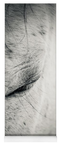 Beautiful White Horse With Closed Eyes Yoga Mat