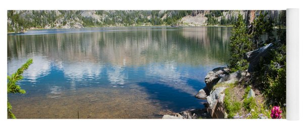 Yoga Mat featuring the photograph Beauty Lake by Gary Beeler