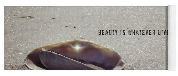 Beauty Star Quote Yoga Mat