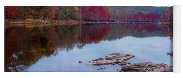 Yoga Mat featuring the photograph Beavers Bend State Park by Robert Bellomy