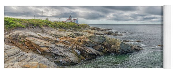 Beavertail Lighthouse On Narragansett Bay Yoga Mat