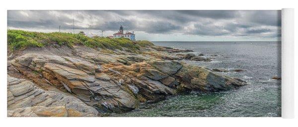 Beavertail Lighthouse On Narragansett Bay Yoga Mat
