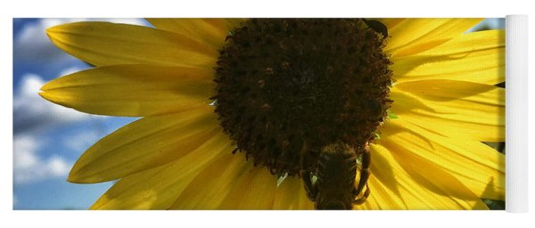 Bee And Sunflower Yoga Mat