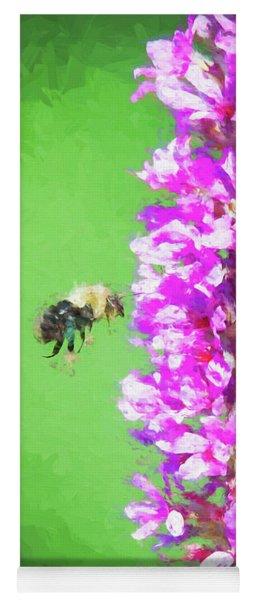 Bee Kissing A Flower Yoga Mat