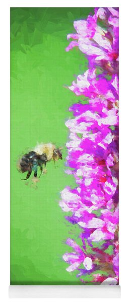 Bee Kissing A Flower Yoga Mat