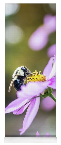 Bee On Flower Yoga Mat