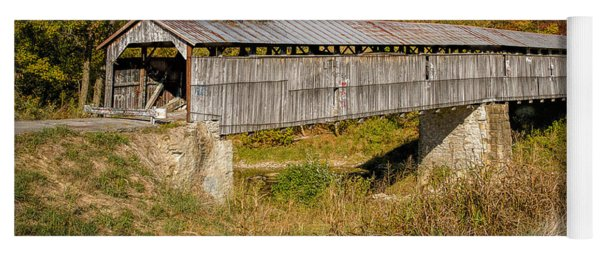 Beech Fork Or Mooresville Covered Bridge Yoga Mat