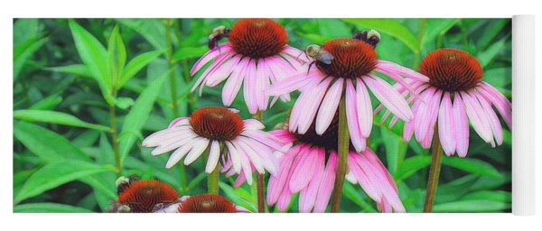 Bees In Heaven Yoga Mat