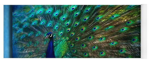 Being Yourself - Peacock Art Yoga Mat