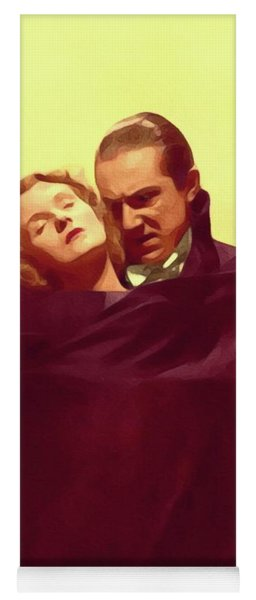 Bela Lugosi And Helen Chandler, Dracula Yoga Mat