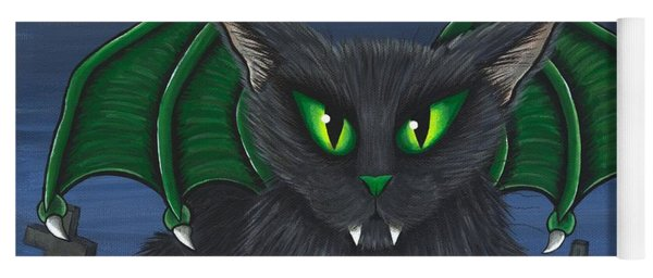Bela Vampire Cat Yoga Mat