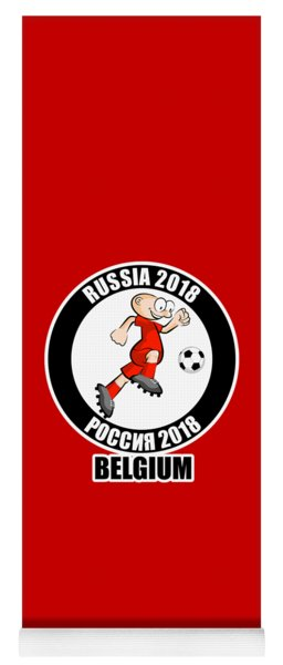 Belgium In The Soccer World Cup Russia 2018 Yoga Mat