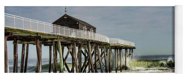 Belmar Fishing Pier Meets Waves Yoga Mat