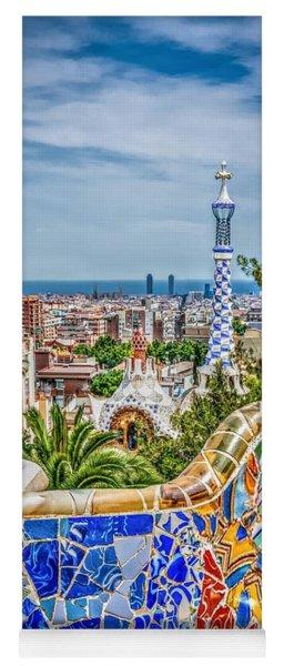 Bench Of Barcelona Yoga Mat