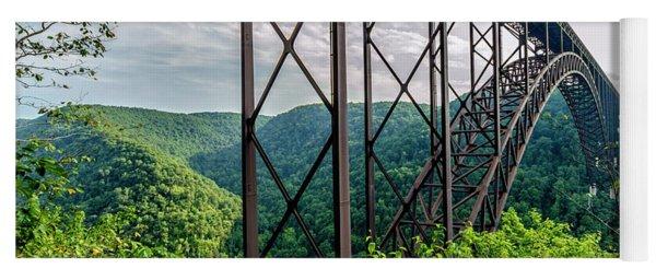 Beneath New River Gorge Bridge Yoga Mat