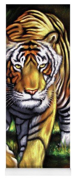 Bengal Tiger Stalking Yoga Mat