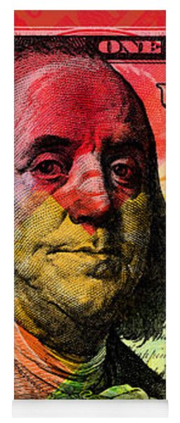 Benjamin Franklin $100 Bill - Full Size Yoga Mat