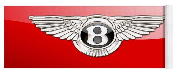 Bentley 3 D Badge On Red Yoga Mat